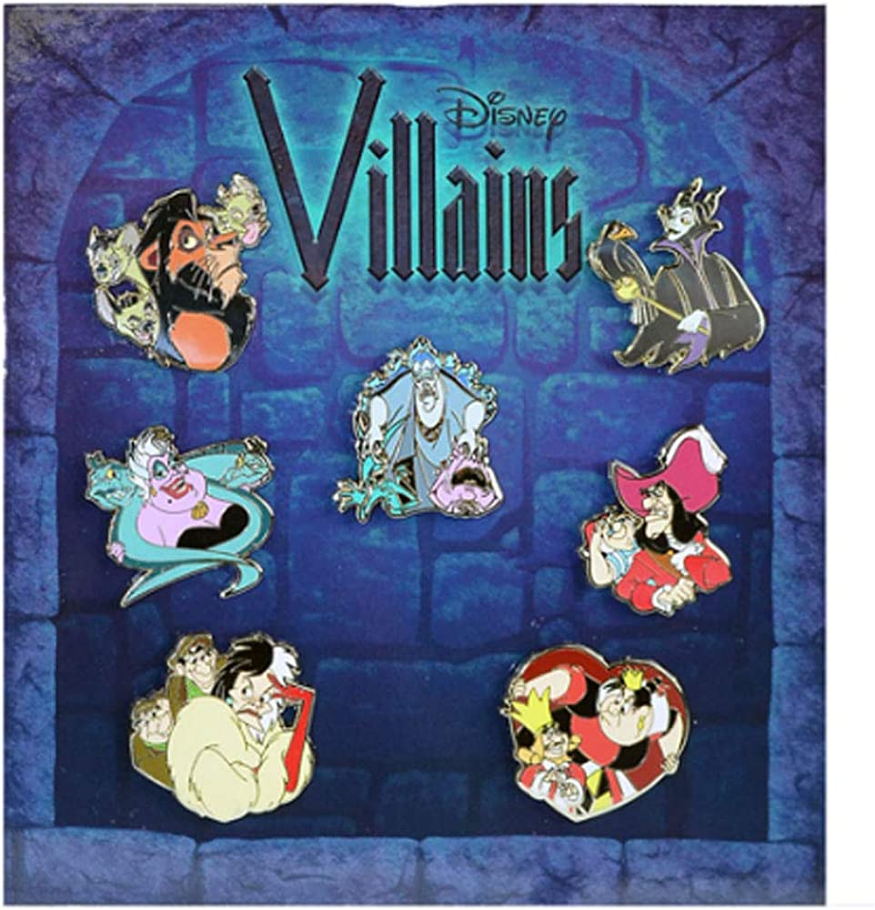 Disney Pin Detroit Mall - Villains Collection Quantity limited Mini-pin Booster Set