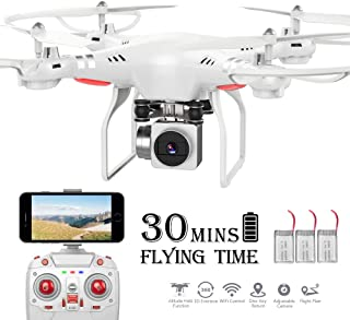 RC Drone,WiFi 4K HD Camera Live Video RC Quadcopter with Altitude Hold, Gravity Sensor Function, RTF and Easy to Fly for Beginner (Drone)