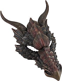 Veronese Design Metallic Bronze Finish Dragon Head Wall Mask Medieval Decor