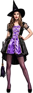 Womens Classic Wicked Witch Costume Dress Purple