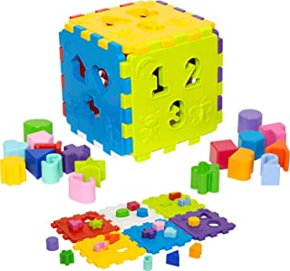 Brinquedo Educativo Cubo Didático com Blocos Merco Toys