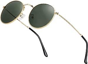 Small Round Polarized Sunglasses Retro Men Women Mirrored Lens Metal Frame Circle Sun Glasses Shades