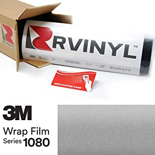 3M 1080 S120 Satin White Aluminum 4in x 6in (Sample Size) Vinyl Vehicle Car Wrap Film Sheet Roll
