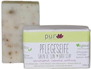 Manufaktur Pur Bio Sheabutter-Naturseife Melisse Melissenseife 100 g