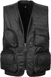Zhhlinyuan 品質と安定性 Mens Outdoor Pocket Camera Vest for Director reporter Fisher