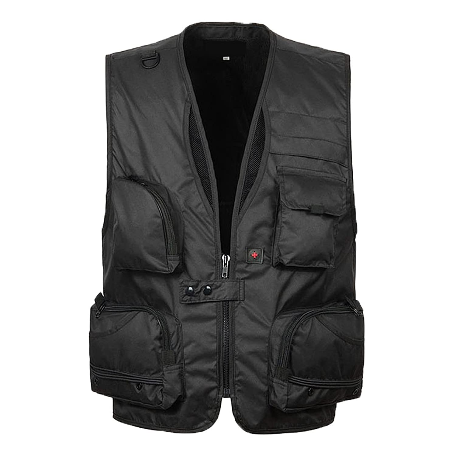 Zhhlinyuan 品質と安定性 Mens Outdoor Pocket Camera Vest for Director reporter Fisher