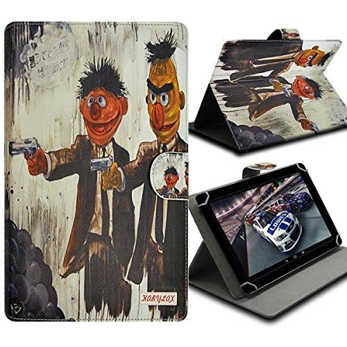 Seluxion-Funda universal con tapa y soporte, diseño de ZA11 para tablet Samsung Galaxy Tab 3 de 8 ', Galaxy Tab, 4,0, 3 g, Tab 3 Lite 7'