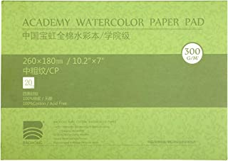 MEEDEN 10X7 Cotton Watercolor Paper Textured Surface Watercolor Pad, Cold Press, 140lb/300gsm, 20 Sheets