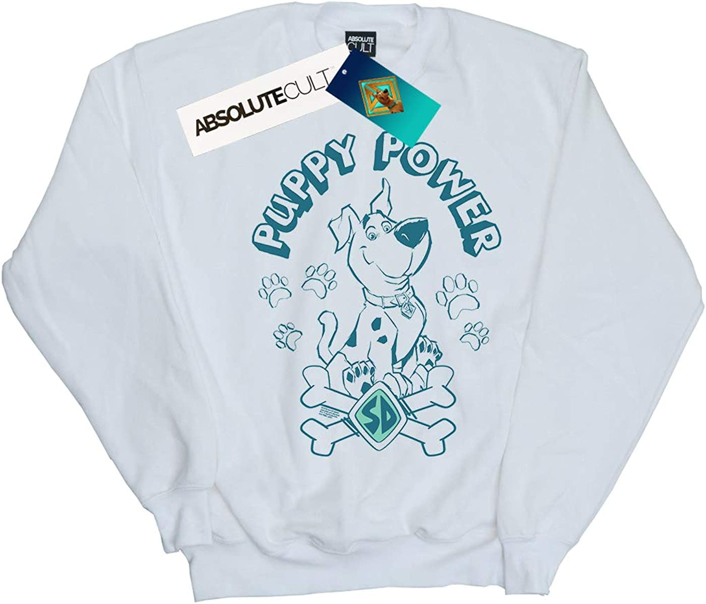 Absolute Cult Scoob! Homme Puppy Power Sweat-Shirt Blanc