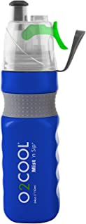 O2COOL Power Flow Grip Band Bottle with Classic Mist 'N Sip Top 24 oz., Blue