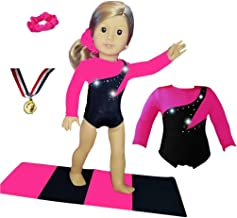 Gymnastics Outfit Doll Connections Compatible with American Girl Doll Accessories and Our Generation - 18 inch Doll Clothes (4 Pieces in All)