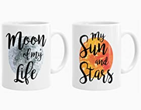 Juego de 2 tazas de Juego de Tronos Khaleesi y Drogo, Moon of My Life, taza de café de alto brillo de 325 ml