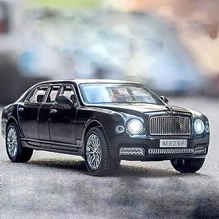 QLRL 1:24 Coche Bentley Mulsanne de Alta simulación con Modelo de Metal de aleación Larga, con Sonido y luz para Abrir la Puerta