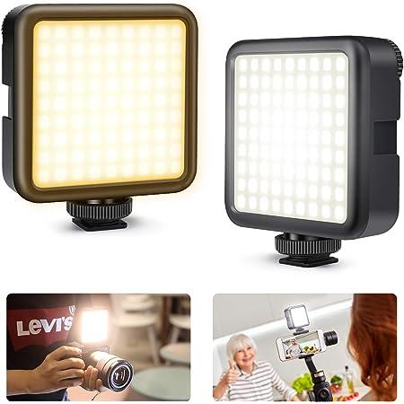 Kekilo LED ビデオライト 撮影用 照明 スマホ カメラ ライト 小型 USB 充電式 3000mAh Type-C 3200k-5600k CRI95+ 色温度調整可能 ソフト光 明るい Zhiyun Smooth 4 DJI OSMO Mobile 3 Action 5 6 7 8 pro用