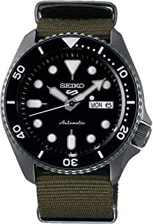 Seiko Men`s Stainless Steel Automatic Watch with Cloth Strap, Grey (Model: SRPD65K4)