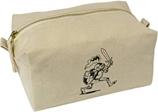 'Marching Knight' Canvas Wash Bag / Makeup Case (CS00019541)