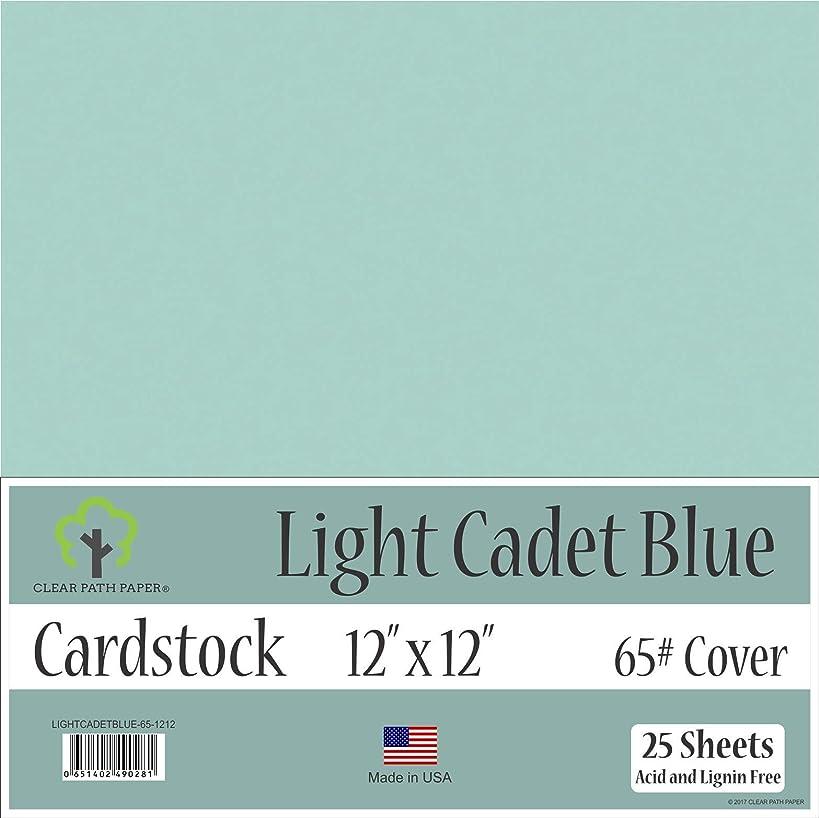 Light Cadet Blue Cardstock - 12 x 12 inch - 65Lb Cover - 25 Sheets