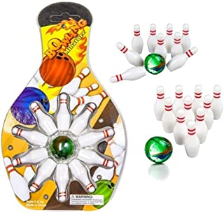 Kicko Miniature Bowling Game Set - 12 Pack Deluxe - for Kids, Playing, Party, Fun, Boys, Girls, Bowlers Etc.