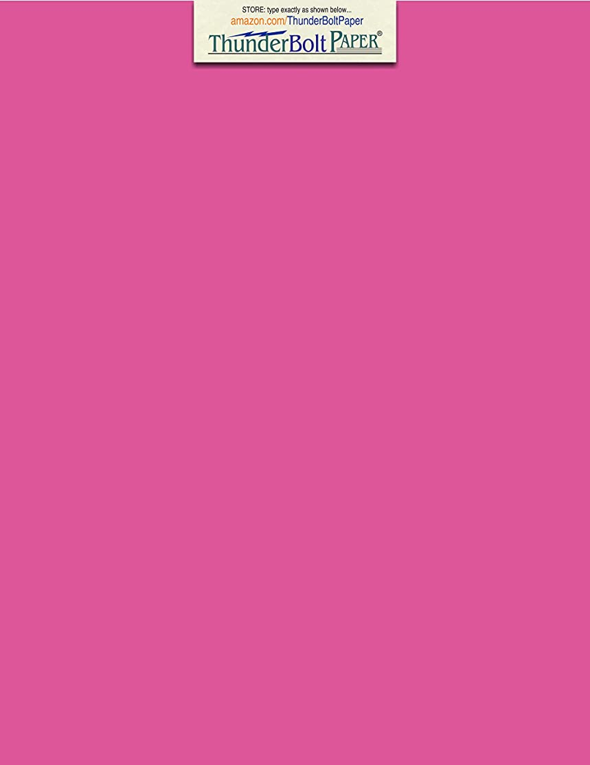50 Bright Hot Pink 65lb Cover Card Paper - 8 X 10 Inches Photo & Picture-Frame Size - 65 lb/Pound Light Weight Cardstock - Quality Printable Smooth Surface for Bright Colorful Results