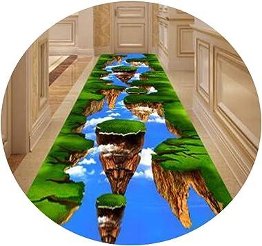 YANZHEN Hallway Runner Rugs Corridor Carpet Floral Print Non-Slip Easy to Clean Sound Insulation Stairs, Size Customization (