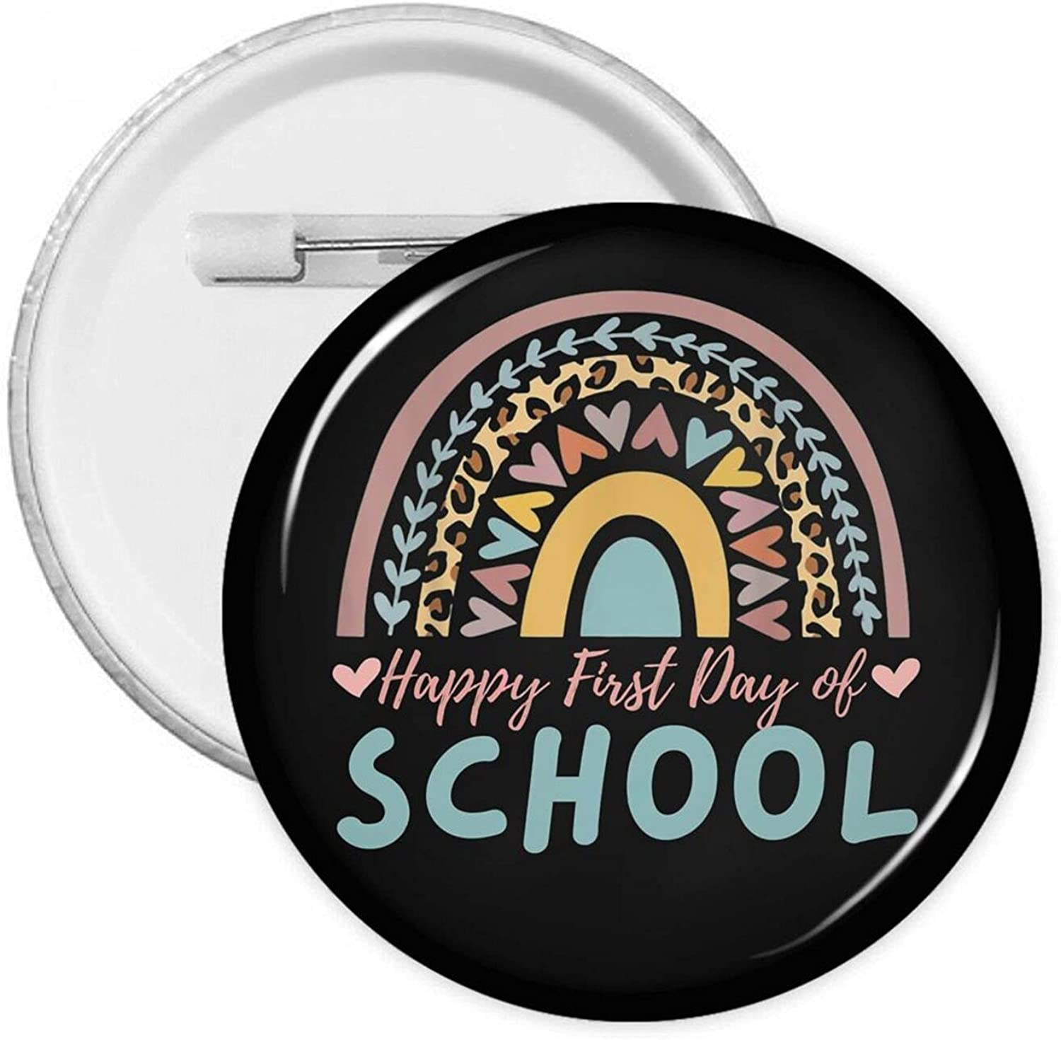 Rainbow Happy First Day Of School Pins Round Button Badges With Super intense Free shipping SALE