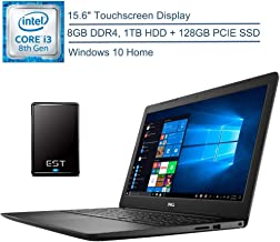 """$549 » 2020 Dell Inspiron 15 Laptop Computer, 15.6"""" Touchscreen, 8th Gen Intel Core i3-8145U Up to 3.9GHz (Beat i5-7200U), 8GB DDR4 RAM, 1TB HDD + 128GB PCIE SSD, Windows 10 + EST 320GB External Hard Drive"""