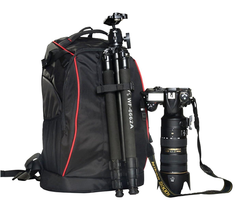 edofiy SLR / DSLR 相机背包适用于相机镜头笔记本电脑和配件, 黑色