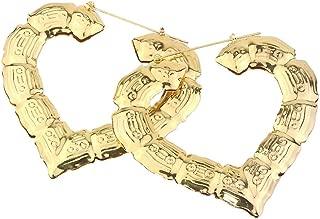 lightclub Fashion Women Hollow Large Big Earrings Heart/Square/Circle/Star Embossed Bamboo Stud Dangle Drop Dangling Hoop Earrings