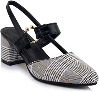 BalaMasa Womens ASL06940 Pu Heeled Sandals