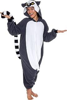 Unisex Adult Pajamas - Plush One Piece Cosplay Lemur Animal Costume