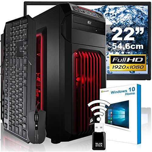 AGANDO Extreme Gaming PC-Komplettpaket | Intel Core i7 7700K 4x 4.2GHz | Turbo 4.5GHz | Nvidia GeForce GTX1080, Palit Dual OC | 8GB RAM | 1000GB HDD | DVD-RW | Gigabyte Gaming Mainboard | USB3.0 | Killer LAN | Soundblaster X-Fi | 55cm (22