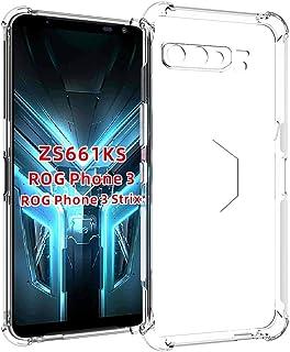 جراب XINKOE لهاتف Asus ROG Phone 3، غطاء نحيف للغاية [شفاف] [مضاد للخدوش] [ماص للصدمات] [متين] لهاتف Asus ROG Phone 3 - شفاف