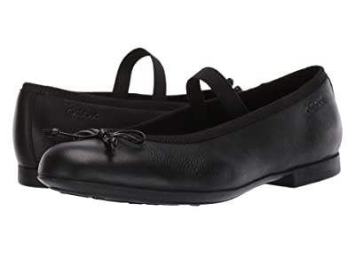 Geox Kids Jr Plie Mary Jane (Big Kid) (Black) Girl