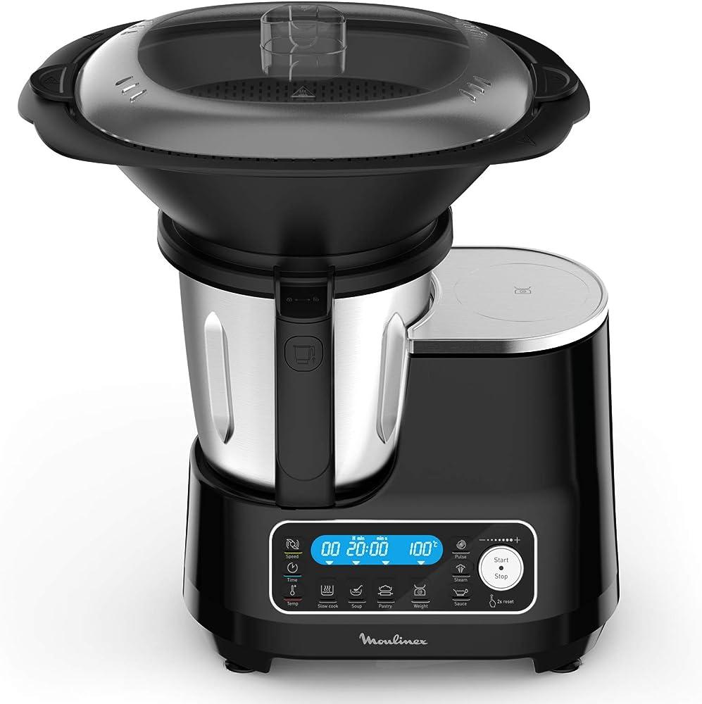 Moulinex robot da cucina, ricette pronte in 2 click, 5 programmi automatici , 7 accessori, 3,6 l HF456810
