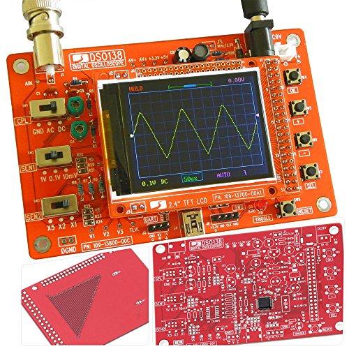 KKmoon Kit oscilloscopio digitale e tasca TFT portatile Parti fai-da-te con set di apprendimento elettronico per soldato SMD 1Msps 2.4'
