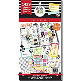 me & my BIG ideas Sticker Value Pack for Classic Planner – The Happy Planner Scrapbooking Supplies – Sports Theme…