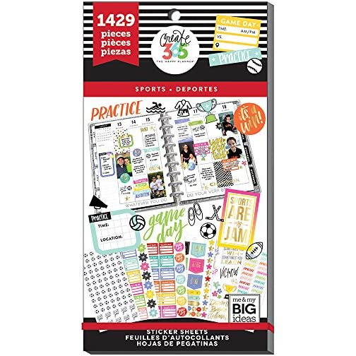 me & my BIG ideas Sticker Value Pack for Classic Planner - The Happy Planner Scrapbooking Supplies - Sports Theme… |