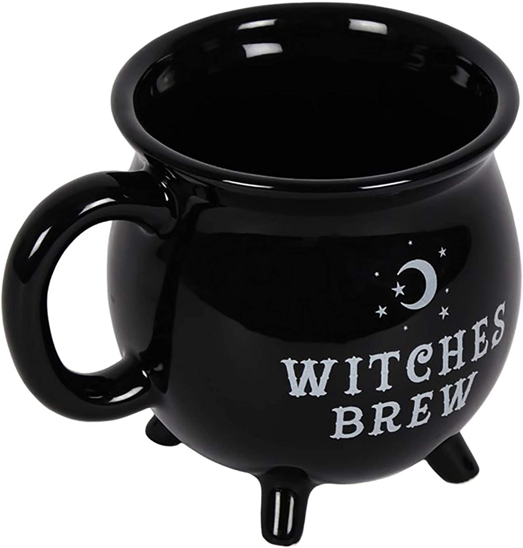 White Witch Cauldron Mug Cures /& Curses Witchcraft