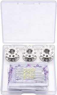 Phonleya Agujas para máquina de coser 100 piezas Paquete de agujas Kits de herramientas de costura Accesorios para coser t...
