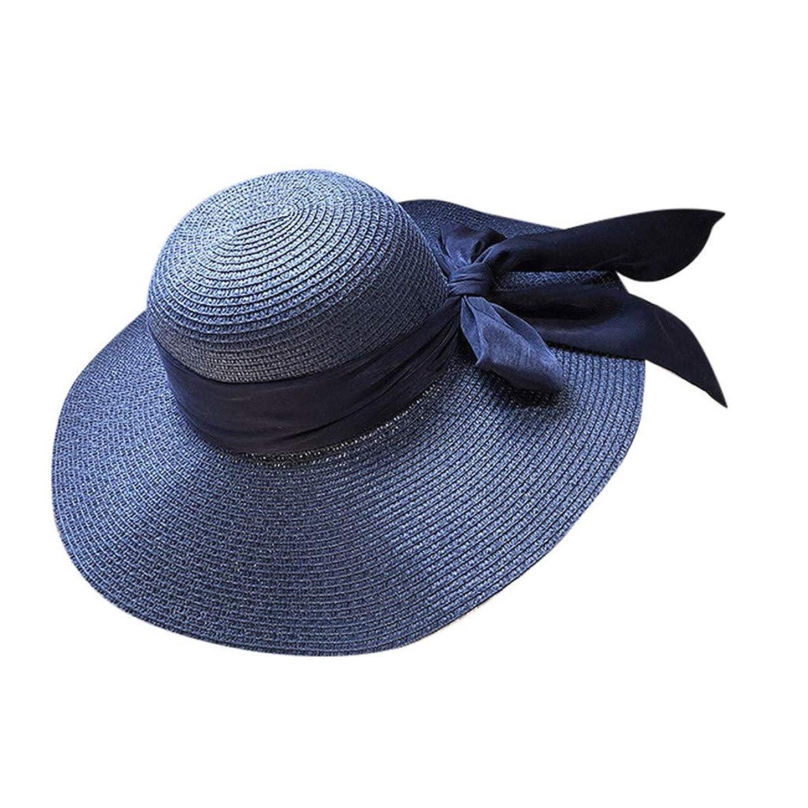 転用煙フィラデルフィア帽子 レディース UVカット 麦わら帽子 可愛い 小顔効果抜群 日よけ 折りたたみ つば広 帽子 サイズ調整 テープ ハット レディース 帽子 日よけ帽子 防晒帽 ビーチ 旅行用 日よけ 日射し 海 夏季 ROSE ROMAN