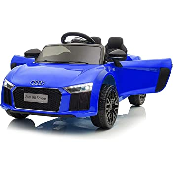 KALCO TOYS UK 2018 Licensed Audi R8 (Mini) 12V Electric Ride on Kids Car with Parental Remote (AGES UPTO 4 YEARS OLD) (BLUE)