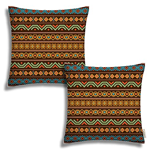 Fundas de almohada para sofá de 45,7 x 45,7 cm, diseño tribal africano