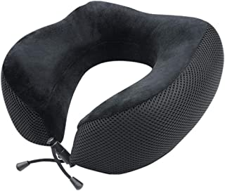 Bloodyrippa Memory Foam Travel Pillow, Head & Chin Support Neck Cushion, Machine Washable & Breathable Cover, Ideal for Airplane Flights, Cars, Buses, Trains