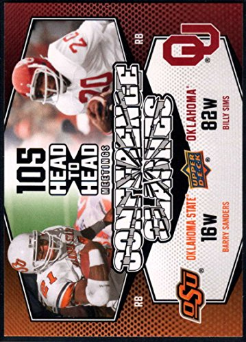 Football NFL 2011 Upper Deck Conference Clashes #CC-4 Barry Sanders/Billy Sims NM-MT