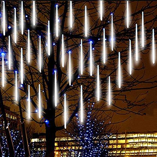 JBZP MéTéORE Pluie Lumineuses GUIRLANDES- 80cm 8 Tubes 567 LEDs Lumineux Etanche Extérieur Goutte d'eau Chute...