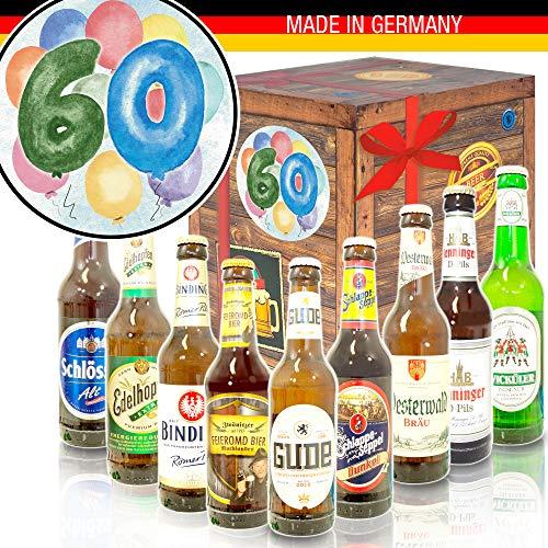 60. Geburtstag - Deutsches Bier Set - Geschenke zum 60 Geburtstag Mann
