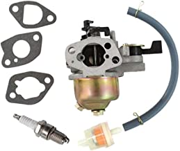 HURI Carburetor Carb with Fuel Filter for Honda HR215 Push Mower GXV160 5.5 HP Engine 16100-ZE7-W21
