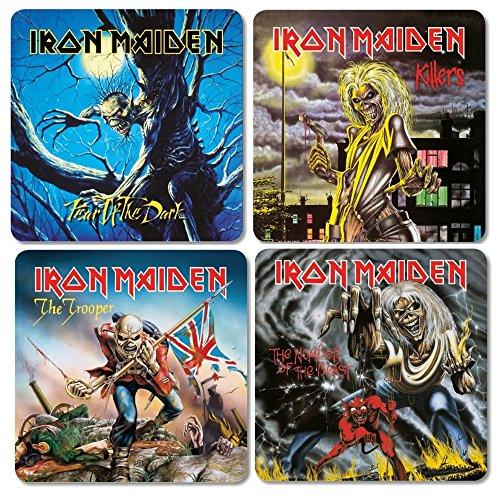 Iron Maiden–Sottobicchieri Coaster set–Album Cover Mix 1