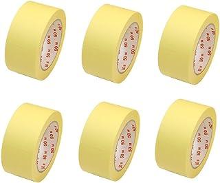 6 Rollen Flachkrepp Abklebeband Malerkrepp Malerband 50mm x 50m bis 60°C EUR 0,05 / m