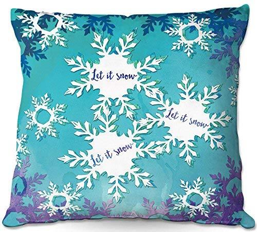 July decoratief sierkussen voor de bank Martina af - laat het sneeuwblauw lila